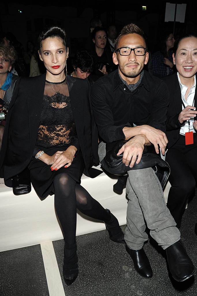 Astrid Munoz and Hidetoshi Nakata at Givenchy S11 RTW