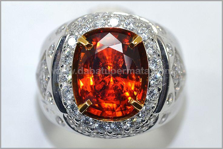 Sparkling Hot Metallic Orange GARNET SPESSARTINE. No Heat - RGR 009