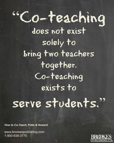 Co-teaching exists to serve students. #quote