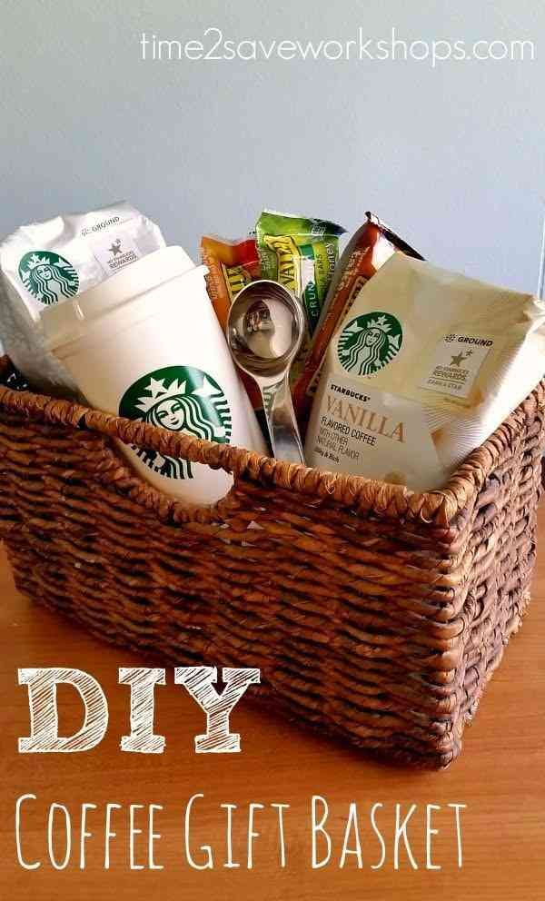 30 Gift Ideas For Your Boss That Put All Your Co Worker S Gifts To Shame Coffee Gift Basket Christmas Gift Baskets Diy Coffee Gifts Diy