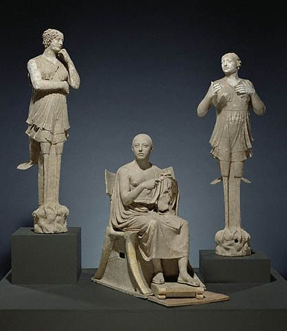 Greek, Taras, South Italy, about 350 - 300 B.C.   Terracotta and pigmentOpen Mouth, Greek Colonial, Paul Getty, Getty Museums, Seats Man, Ancient Greece, Terracotta Sculpture, Ancient Art, South Italy