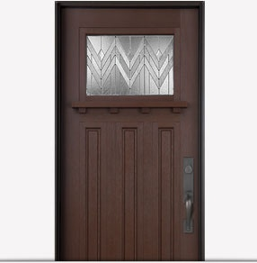 Pella Craftsman fiberglass entry door with Homestead glass. Visit us on Facebook to choose an energy-efficient entry door that best suits you: http://on.fb.me/O8a46D.
