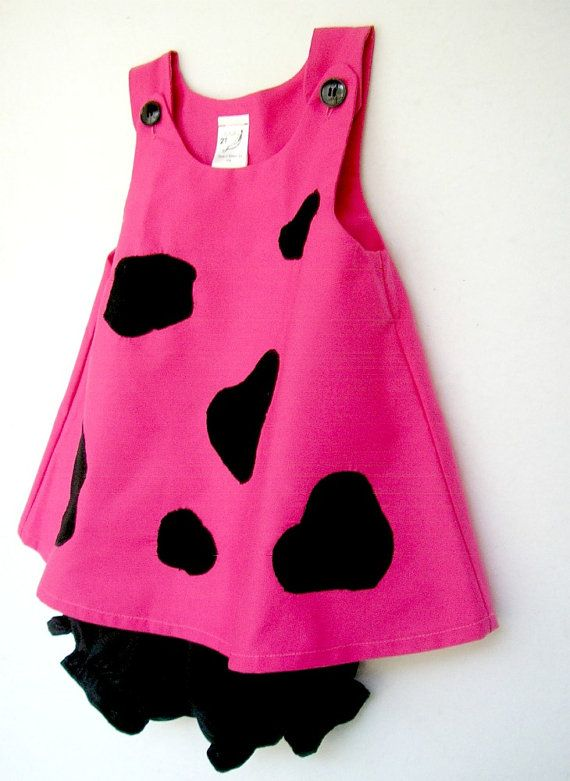 Pink Pebbles Flintstone Costume 2 pc Set by peapodray on Etsy, $42.00