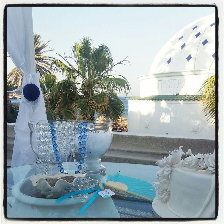 Blue Wedding Kallithea Springs Rhodes Greece Venue Summer Kallithea Destination Wedding Blue Wedding