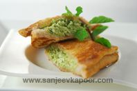 Grilled Tofu And Paneer Sandwich: Grilled sandwich with a difference of tofu and paneer stuffing.