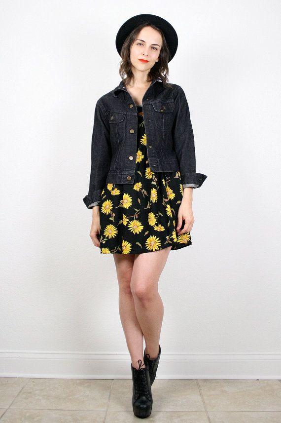 Vintage Denim Jacket Lee Denim Jacket Black by ShopTwitchVintage