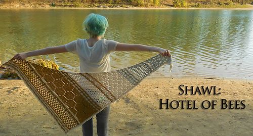 Hotel of Bees Shawl by Christina Hadderingh (A Spoonful of Yarn).    Isn't it beautiful?