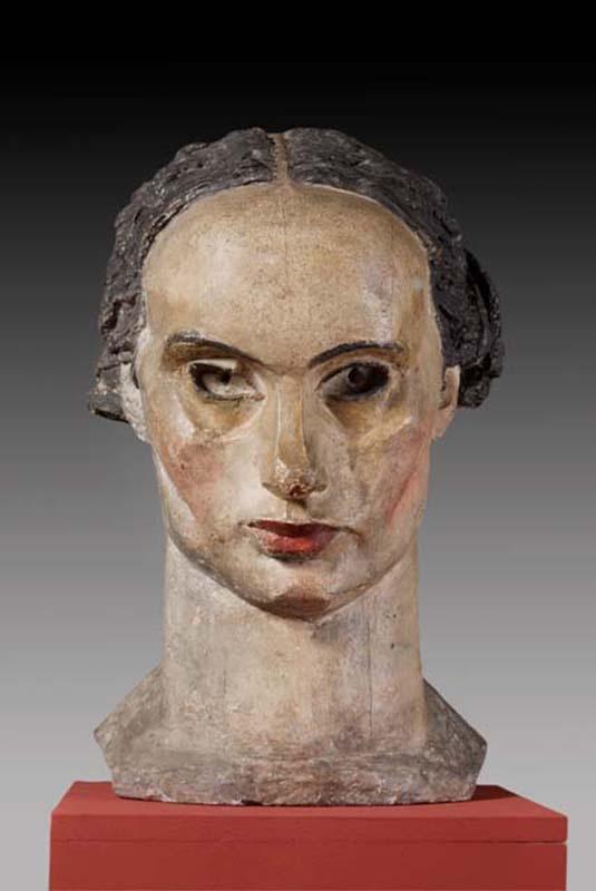 Xawery Dunikowski (Poland 1875-1964), Head, plaster, 1917-1920.