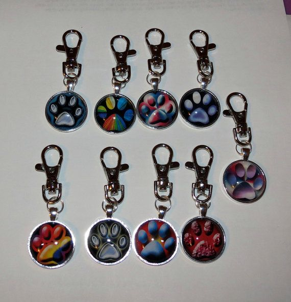 Paw Print Key Chain / FOB by PawInspiredCreations on Etsy