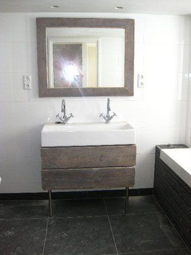 Atelier d'Aulnis - Meubels van steigerhout op maat - badkamer