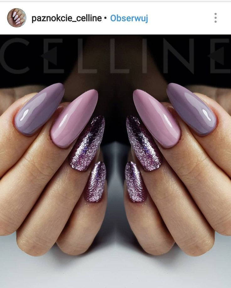 Love The Color And The Cut Of The Nails Unghii Nails Gel Nails