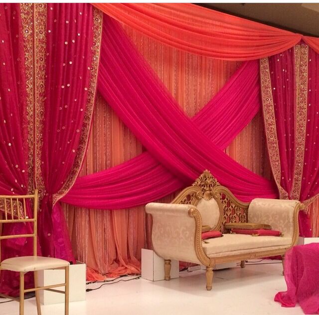 25 best wedding stage decorations trending ideas on for Background decoration for indian wedding