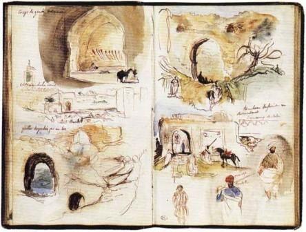 Carnet de voyage- Eugène Delacroix