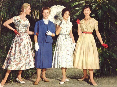 Dress styles of the fifties