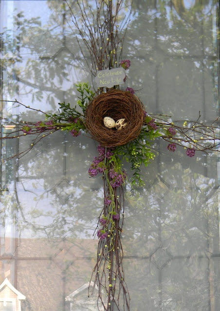 Find This Pin And More On Easter Cross Wreath