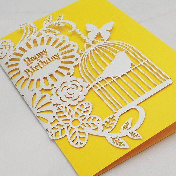 Luxurious laser-cut greeting cards by Alljoy Design. www.alljoydesign.com: