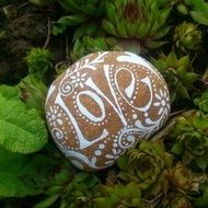 Description I have selected these stones from the beach and lovingly hand painted them on either side.. They can be used as an ornament, garden feature, paperweight.... The list goes on.... They have been painted with an enamel paint so are hardwearing...
