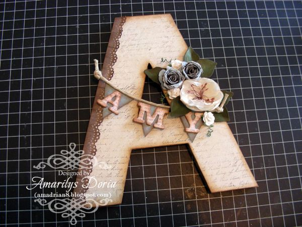 Amarilys's Scrappy Corner: tuesday...altered letter tutorial