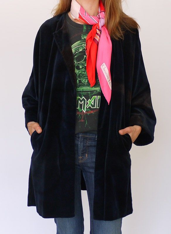 Vintage velvet kimono jasje @ www.secondhandnew.nl