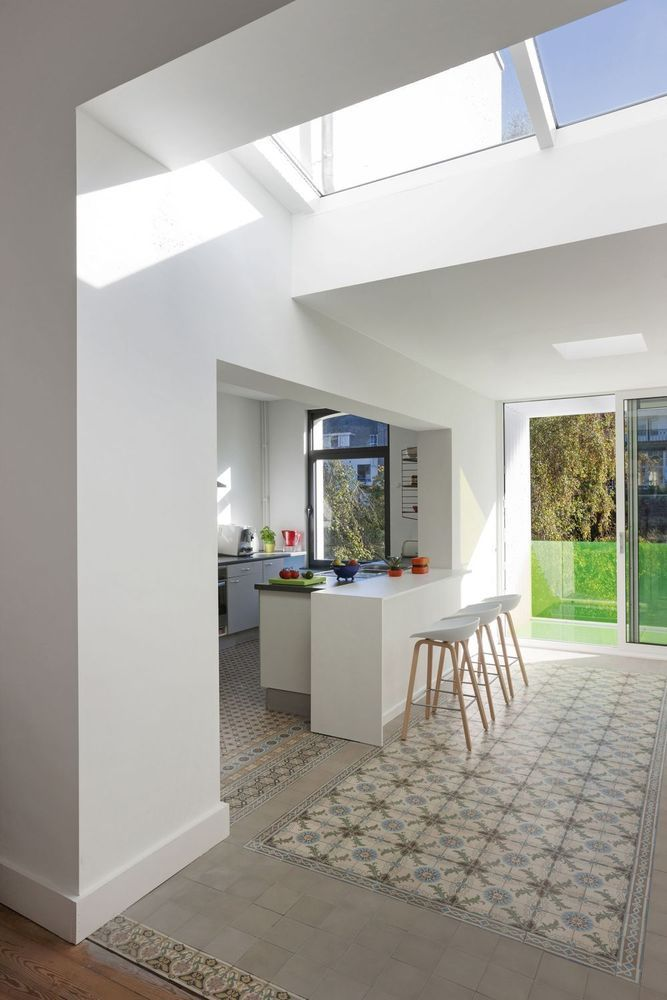 In beeld: van sombere en krappe gelijkvloers naar open en lichte leefruimte - Renovatie - Ik Ga Bouwen.be