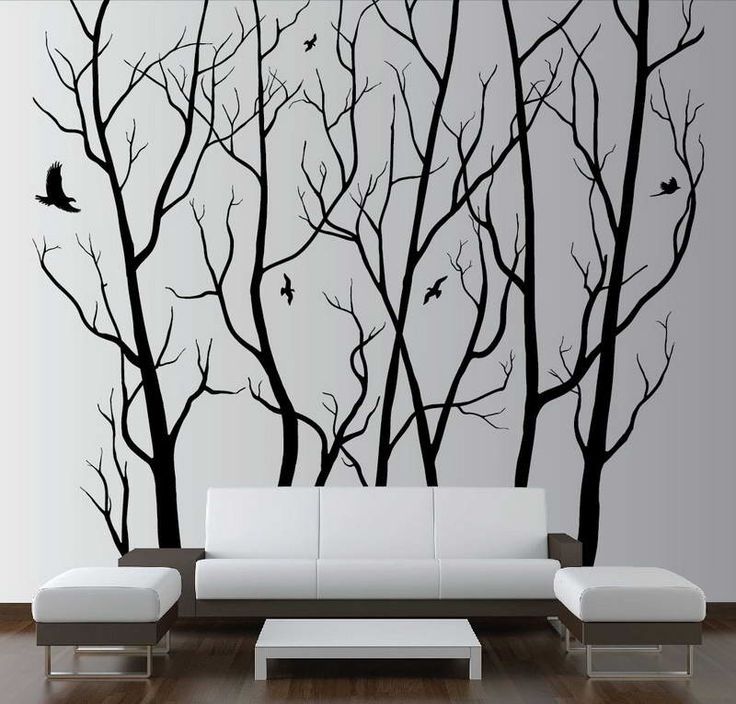 How to Paint a Tree on a Wall With Sofa Design