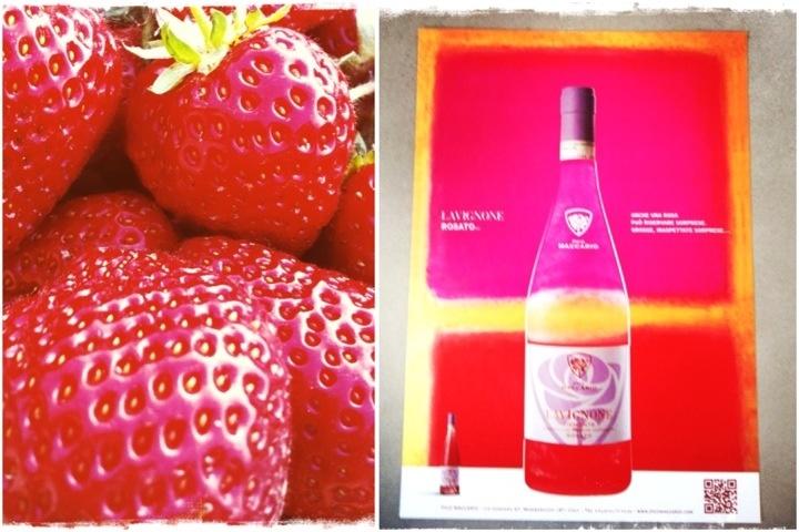 Lavignone Rosè and strawberries!