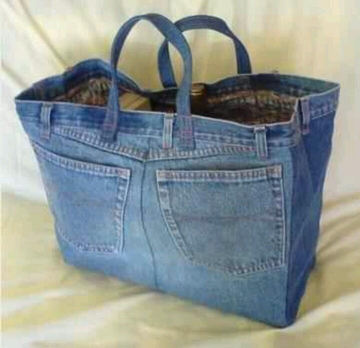 Jean purse - no inst. Like the tote bag shape. Add heavy-duty interfacing to keep the shape.