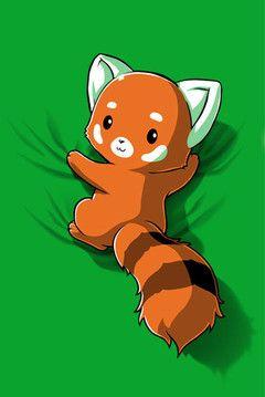 Red cute panda