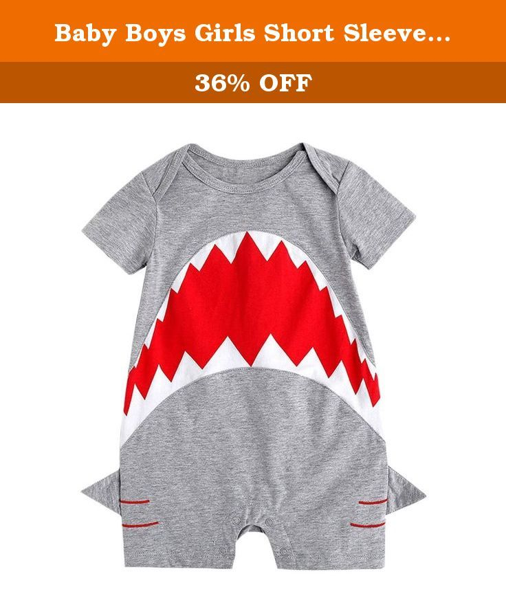 "Baby Boys Girls Short Sleeve Shark Costume Bodysuit (90(12-18M)). Made of high quality cotton fabric. Machine Washable ,front opening. Size details: 70:Length 42cm/16.5"",Chest 52cm/20.4"" 80:Length 44cm/17.3"",Chest 54cm/21.2"" 90:Length 46cm/18.1"",Chest 56cm/22.0"" 100:Length 48cm/18.9"",Chest 58cm/22.8"" ."