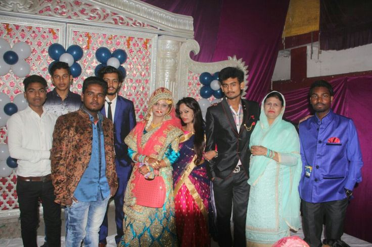 Rapper faizan hasan with sister and friends