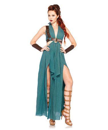 Green Spartan Queen Costume - Women #zulily #zulilyfinds