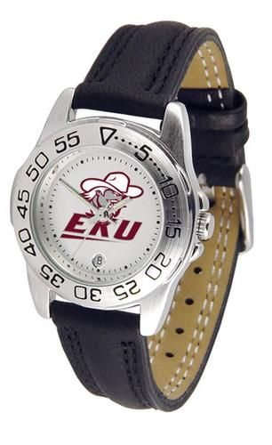 Eastern Kentucky University Women's Leather Band Athletic Watch