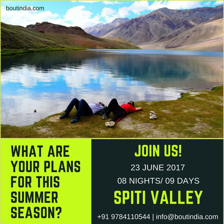 Embark on this Adventure tour starting from 23rd June 2017, ex- Chandigarh.  Duration: 08 Nights/ 09 Days Cost: 23,500/- Locations: Manali - ChandraTal - Kaza - Langza - komic - Tabo - Losar - Manali  For more information send us your queries at info@boutindia.com | +91 9784110544 #travel #boutindia #himalaya #himalayantrek #spitivalley #chandratal #kaza #langza #komic #nature #adventure #photography #camp #hike #explore #keeptraveling #keepexploring