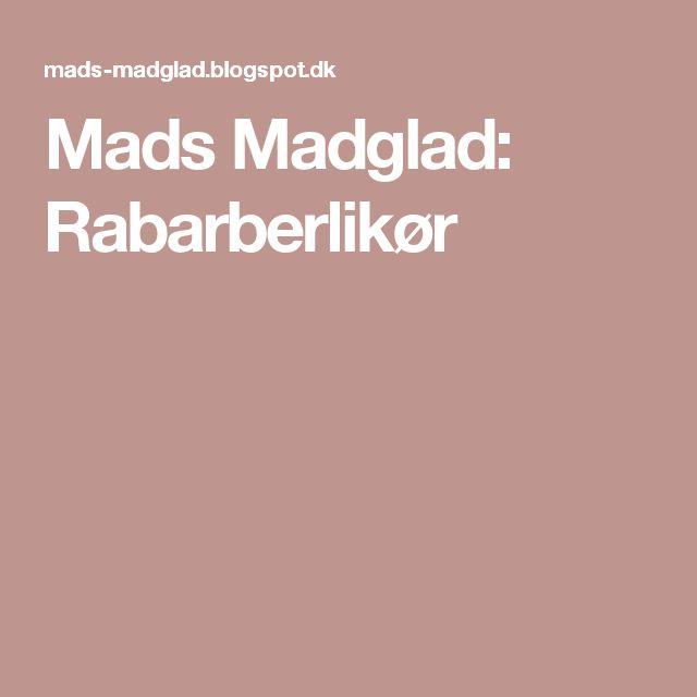 Mads Madglad: Rabarberlikør