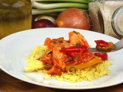 Klassisches Ingwerhuhn mit Reiswein