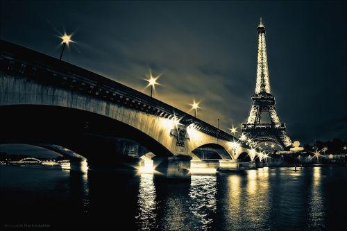 Paris in the evening.
