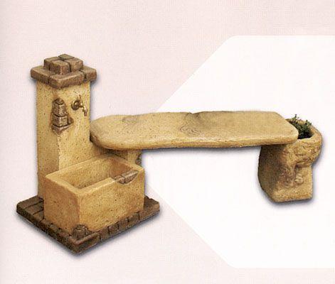 Oltre 20 migliori idee su panchina in cemento su pinterest for Fontane in legno