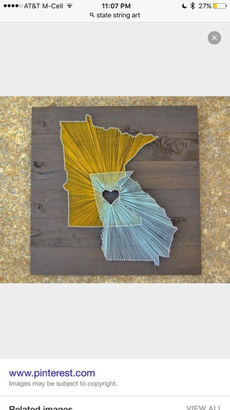 Virtual craft club diy vinyl wood slice sugar bee - Cute Idea For Couples From Different States State String Art Sugar Bee Crafts Love This Idea But Kevin And I Are Both From The Ne Corner Of Our States