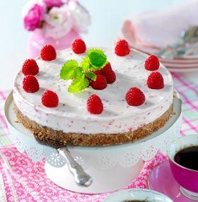 Opskrift   Hindbær-cheesecake