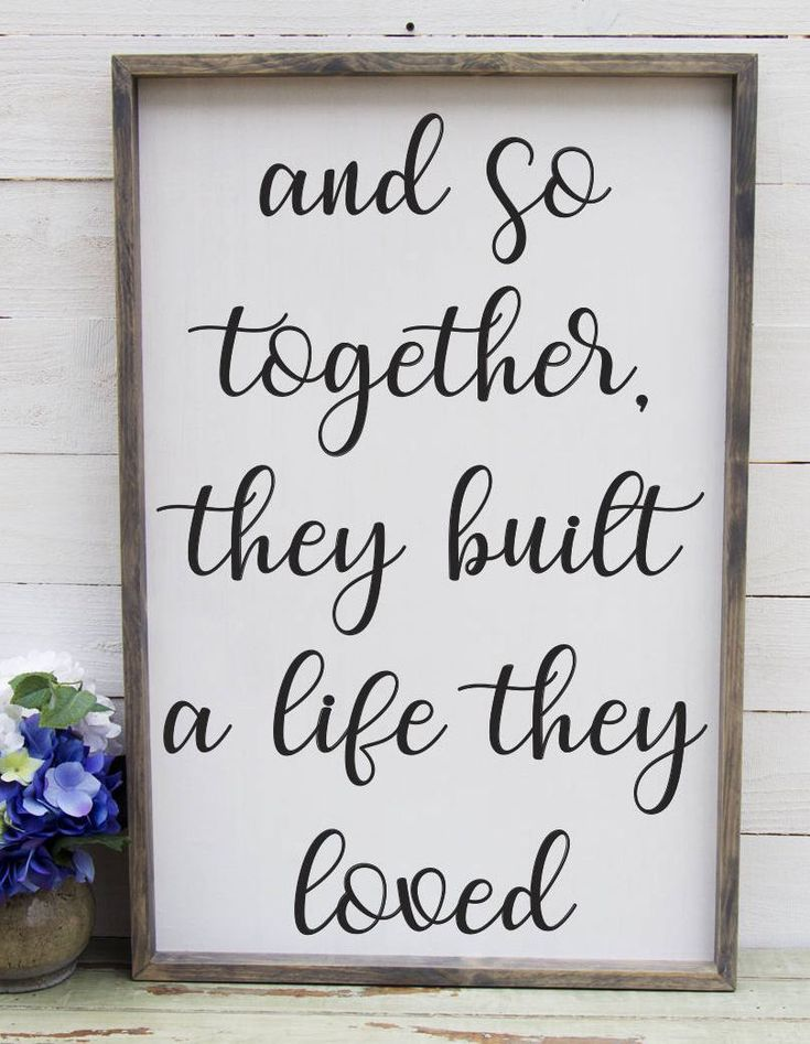 Excited to share the latest addition to my #etsy shop: And So Together They Built A Life They Loved Entryway Decor Farmhouse Decor Foyer Rustic Entryway Decor Large Signs Farmhouse Signs #foyerdecoratingrustic #foyerdecoratingentryway