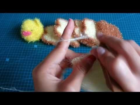 [코바늘]달인 이점덕의 바람개비수세미 뜨개질(한올스.부평한올뜨개방) - YouTube