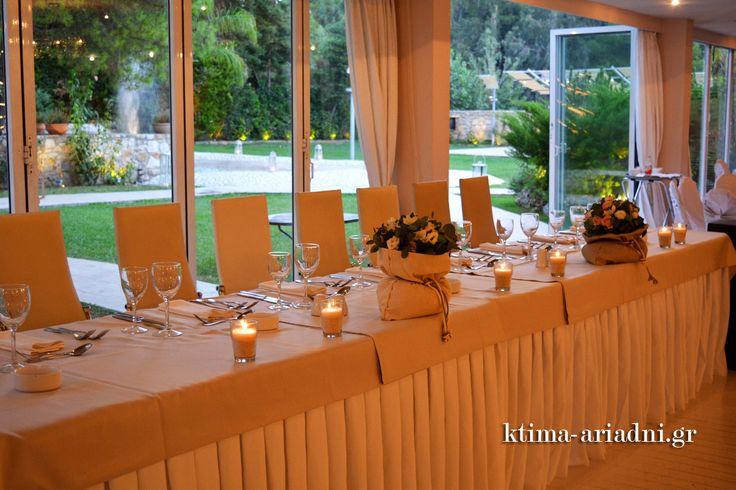 Διακόσμηση στο νυφικό τραπέζι