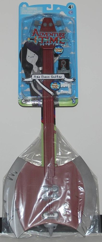 "ADVENTURE TIME MARCELINE'S 27"" AXE BASS GUITAR & FANGS PROP COSPLAY JAZWARES"