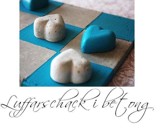 Luffarschack i betong, pyssel, DIY, panduro, tävling, gjut i betong, pyssla med betong