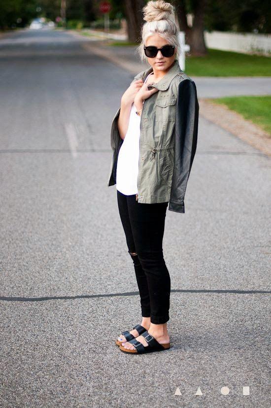 iMyne Fashion: Zappos Appreciation | Cara Loren. Birkenstocks! Chic way to wear Birkenstock. Forever in style. Comfortable footwear outfit idea. Spring outfit inspiration. Campus outfit. How to wear black Birkenstocks.