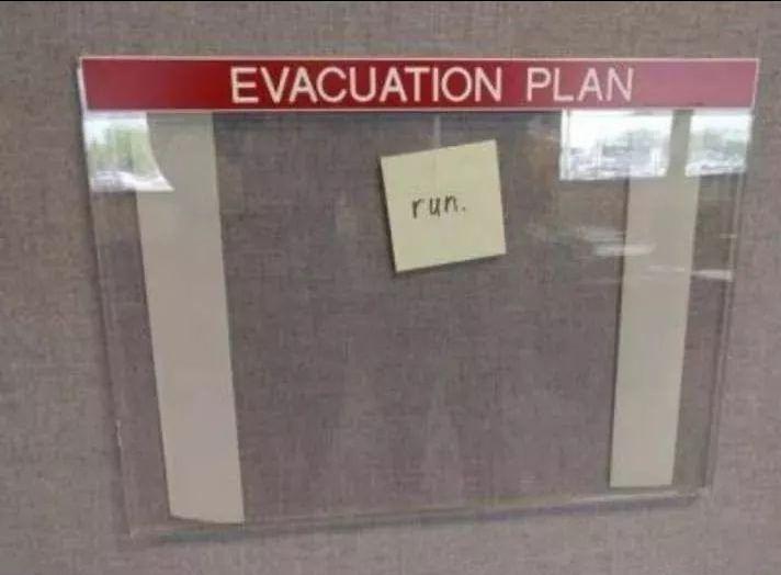 But where do I run to? #forklift #osha #forkliftlicense #forklifttraining #forkliftcertification #forkliftlabs #safety