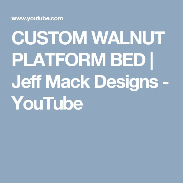 First official VLOG is complete!   Check out some behind the scenes footage on our custom built walnut bed frame thats headed down to Boston.