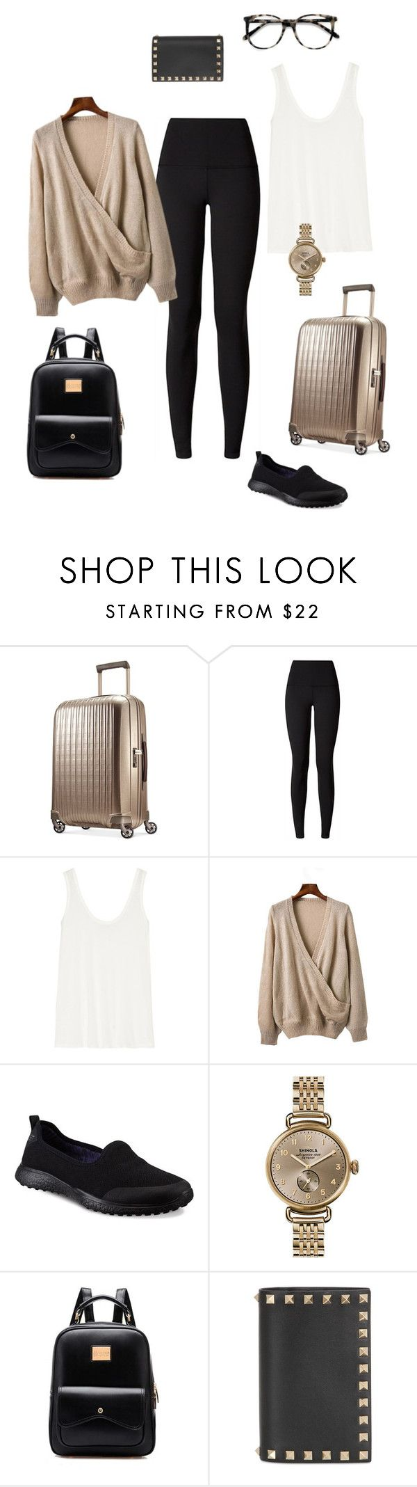 Airplane outfit YYC to YYZ by calgarysarah on Polyvore featuring #ShinolaWatch from #JRDunn