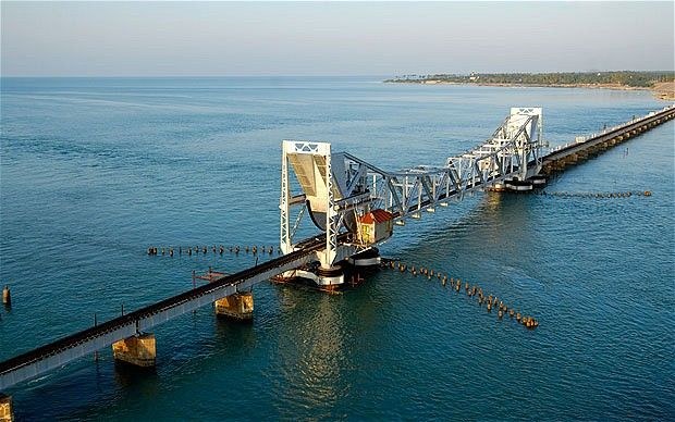 The World's Scariest Train Rides // Pamban Bridge, India
