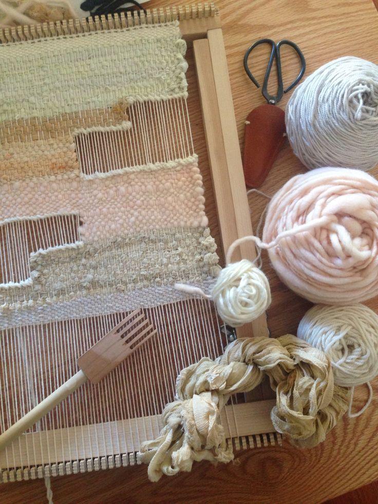 Woven wall hanging weaving by Maryanne Moodie  www.maryannemoodie.com